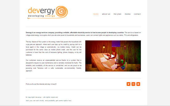 devergy old homepage