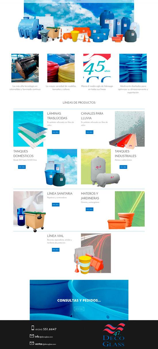 sitio web Deco Glass
