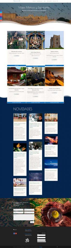 sitio web Namaskar