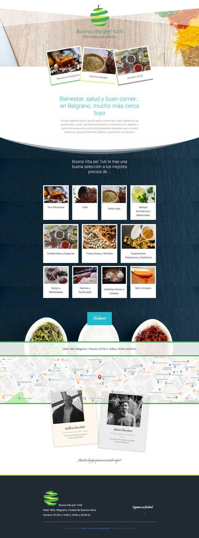 sitio web Buona Vita