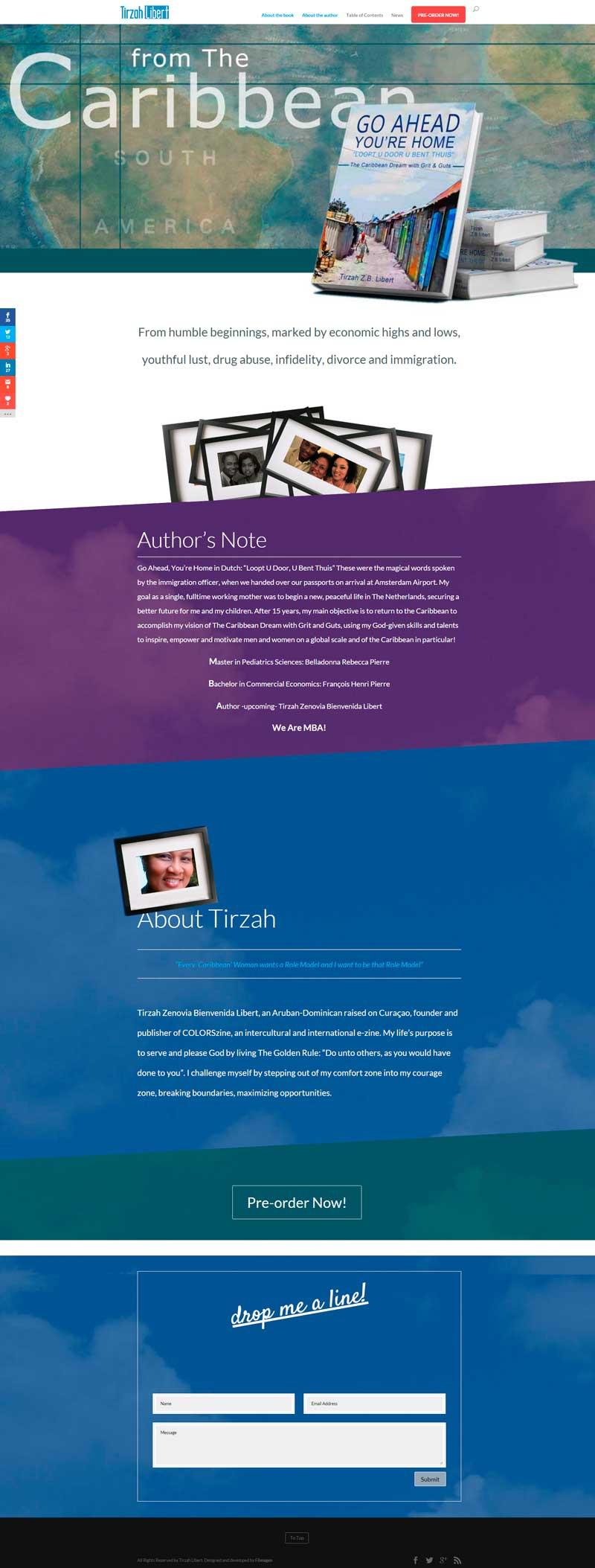 sitio web Tirzah Libert